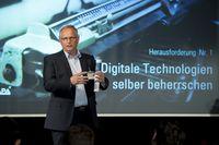 Alexander Falchetto (APA-IT) spricht bei der Eventserie ´Digital Business Trends´ über die Herausforderungen für Führungskräfte durch die Digitalisierung