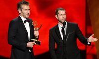 Sep 20 2015 Los Angeles California U S David Benioff left and D B Weiss accept the award f