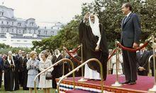 Saudi-König Faisal und US-Präsident Richard Nixon: Sie haben das Petrodollar-System in den 1970er-Jahren etabliert. Wird Präsident Donald Trump es beenden?