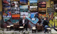 Ein Straßencafe in Istanbul
