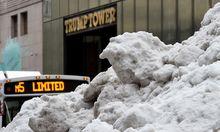 Schnee vor dem Trump Tower. Archivbild vom 15. März.