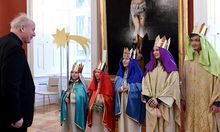Kardinal Schönborn empfing die Sternsingern