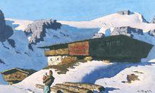 """Keine Art & Antique Salzburg ohne Gemälde von Alfons Walde: Den """"Einsamen Berghof"""" findet man bei Giese & Schweiger."""