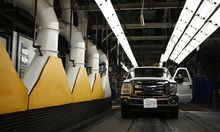 Ford Motor Co. Makes Announcement At Assembly Plant