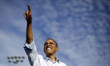 U.S. President Barack Obama is pictured at an election campaign rally at McArthur High School in Florida