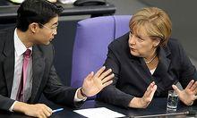 Die deutsche Bundeskanzlerin Merkel mahnt ihren Vizekanzler, seine Worte sehr vorsichtig zu wägen