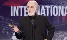 Director Michael Haneke accepts the award for Best International Film for 'Amour' at the 2013 Film Independent Spirit Awards in Santa Monica