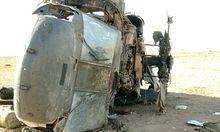 Deutschland: Drei Tote bei Hubschrauber-Absturz (Symboldbild: abgestürzter Blackhawk)