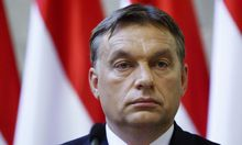File photo of Hungarian Prime Minister Orban attending a news conference in Budapest