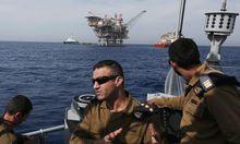 """Israels Marine macht sich Sorgen um die Sicherheit der Gasplattform """"Tamar""""."""