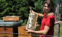 Imker wegen flotte Bienen
