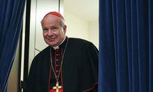 Archivbild: Kardinal Schönborn bei einer Pressekonferenz im Vorjahr im Vatikan