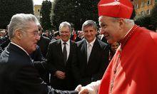 Staatliche und kirchliche Amtsträger bei der Amtseinführung von Papst Franziskus.