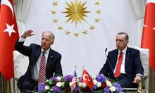 Da krachte es schon im Gebälk: US-Vizepräsident Joe Biden und Präsident Erdoğan im August 2016 in Ankara.