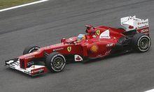 Ferrari Formula One driver Fernando Alonso of Spain drives during the Brazilian F1 Grand Prix at Interlagos circuit in Sao Paulo