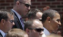 Archivbild: Barack Obama und Leibwächter