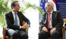 Kanzler Kern und der Präsident der Europäischen Kommission Juncker