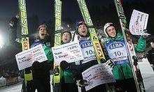 Norwegen gewann das Teamspringen in Willingen