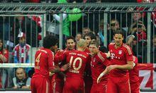 Bayern-Spieler jubeln