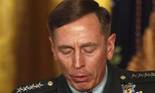 File photo of then U.S. Army Gen. David Petraeus at event in the East Room of the White House