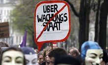 Demonstration gegen die Vorratsdatenspeicherung