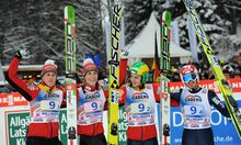 Sloweniens Quartett jubelt