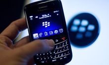 File photo of a BlackBerry handset displayed in Washington