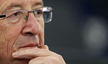 Eurogroup President Juncker attends a debate at the European Parliament in Strasbourg