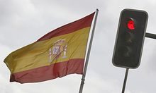 Angst Demonstanten Spanien setzt