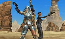 This video game image courtesy of Electronic Arts/BioWare shows Star Wars: The Old Republic.   (AP