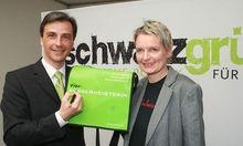 Siegfried NAGL und Lisa RUECKER nach den Koalitionsverhandlungen im Jahr 2008