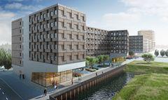 """Das """"Woodie"""", ein neues Studentenheim aus Holz in Hamburg."""