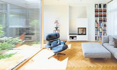 Wohnbereich mit Atrium.