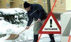 Gewusst wie: Hausbesorger beim Schneeräumen im winterlichen Wien.
