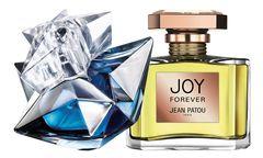 """Ungewohnt. Die diesjährige Version des """"Liqueur de parfum – Angel"""" von Thierry Mugler, 35 ml Eau de Parfum um 70 Euro. Und """"Joy Forever"""" von Patou, 50 ml Eau de Parfum um 120 Euro. / Bild: (c) Beigestellt"""