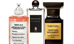 """Heiß ersehnt. """"Lipstick on"""" von Maison Margiela, 100 ml um 90 Euro. """"La Vierge de Fer"""" von Serge Lutens, 50 ml um 102 Euro. """"Venetian Bergamot Private Blend"""" von Tom Ford,  50 ml um 195 Euro. / Bild: (c) Beigestellt"""