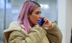 February 26 2018 Tokyo Japan Kim Kardashian West is seen with pink hair upon her arrival at Tok / Bild: (c) imago/AFLO (AFLO)