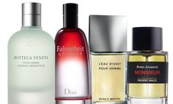 "Quartett. ""Cologne Pour Homme Essence Aromatique"" von Bottega Veneta, ""Fahrenheit Cologne"" von Christian Dior, ""L'Eau d'Issey pour homme – Eau fraîche"" von Issey Miyake, ""Monsieur"" von Bruno Jovanovic für Frédéric Malle. / Bild: (c) Beigestellt"