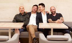 Die Gyoza Brothers bestehen aus den vier Freunden Dong Quoc Ngo, Tie Yang, Jun Yang und Adam Gortvai (von links).  / Bild: (c) Leopold Museum/ Foto: Lisa Rastl