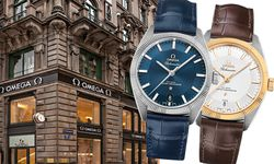 """Die Omega """"Globemaster"""" misst 39 mm, sie ziert das unverwechselbare """"Pie Pan""""-Zifferblatt der frühen """"Constellation""""-Modelle. Motor ist das Omega-Co-Axial-Automatikkaliber """"8900/8901"""". Die Uhr ist als """"Master Chronometer"""" zertifiziert. Die """"Globemaster"""" ist in 18-karätigem """"Sedna""""-Gold, 18-karätigem Gelbgold, Edelstahl und Kombinationen daraus erhältlich. Die Preise beginnen bei 6000 Euro für das Stahlmodell mit Lederband. / Bild: (c) Omega"""