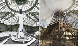 Eine Replik des Eiffelturms oder eine Rakete -  Die Kulisse ergänzt perfekt den Grundton, den die Kollektionen Lagerfelds vorgeben.  / Bild: Chanel (Olivier Sailant)
