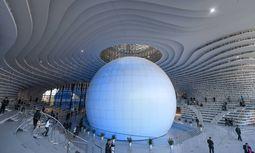 Wissensspeicher: Die neue Bibliothek der chinesischen Hafenstadt Tianjin / Bild: (c) imago/Xinhua (Bai Yu)