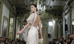 March 15 2018 Madrid Spain A Model shows a CRISTINA PINA design during fashion week ATELIER CO / Bild: (c) imago/ZUMA Press (Oscar Gonzalez)