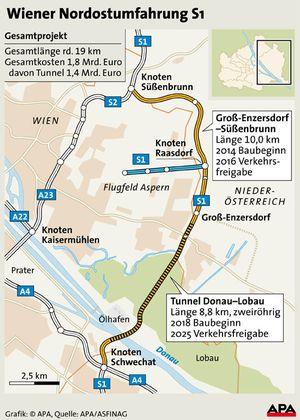 Die geplante Trasse der Nordostumfahrung.