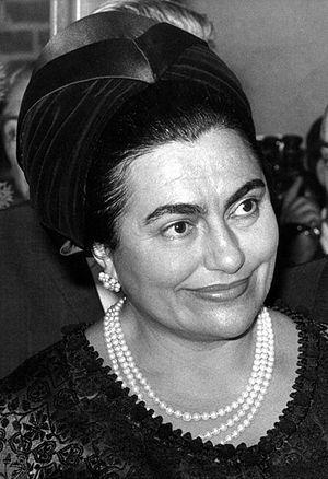 Jovanka Broz auf einem Archivbild von 1970