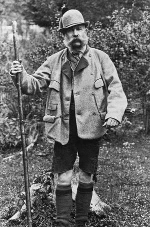 Franz Joseph I in Jagdkleidung
