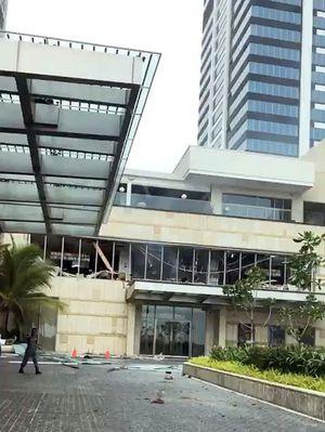 Nach der Explosion im  Shangri-La-Hotel in Colombo