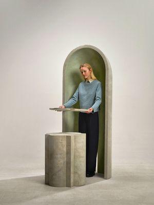 """Rituell. Mit der """"Architektur der Tee-Zeremonie"""" beschäftigte sich der Designer Nel Verbeke."""