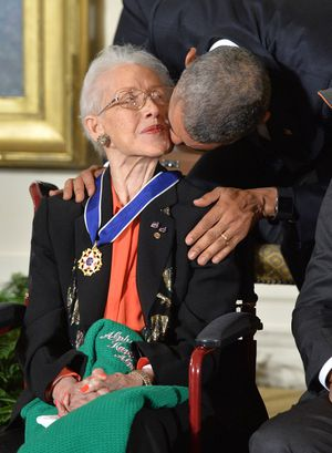 Katherine Johnsen mit Barack Obama