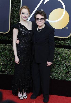 Stone war bei den Golden Globes zu Gast und posierte zusammen mit Tennisstar Billie Jean King auf dem Red Carpet. Auf die Afterparty hatte die 29-Jährige allerdings keine Lust mehr.